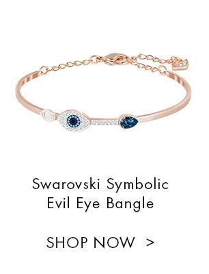 Swarovski Symbolic Evil Eye Bangle