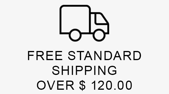 FREE STANDARD SHIPPING OVER $120.00