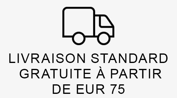 LIVRAISON STANDARD GRATUITE À PARTIR DE EUR 75